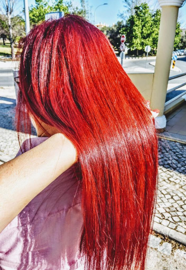 red color hair